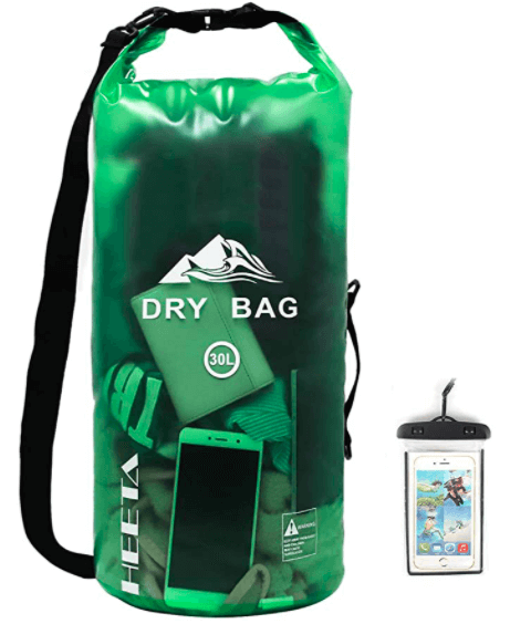 HEETA Waterproof Dry Bag for Women Men, Roll Top Lightweight Dry Storage Bag Backpack with Phone Case for Travel, Swimming, Boating, Kayaking, Camping and Beach