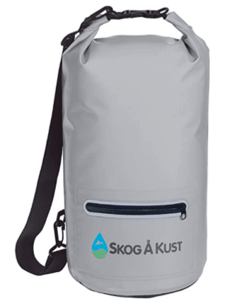 Skog Å Kust DrySåk Waterproof Floating Dry Bag with Exterior Zippered Pocket for Kayaking, Rafting, Boating, Swimming, Camping, Hiking, Beach, Fishing 10L & 20L Sizes