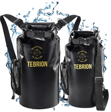 TEBRION 10L  10L + 20L Premium 100% Waterproof Dry Bag Thick & Lightweight - Roll Top Sack Keep Gear Dry and Safe Perfect for Kayaking, Rafting, Boating, Surfing - Various Colors & High Value Sets!